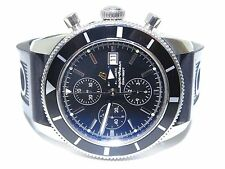 Mens Breitling Super Ocean Heritage Stainless Steel w/Rubber Watch A13320 46mm