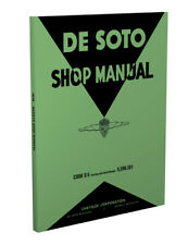 1938 De Soto Shop Manual 38 DeSoto S5 S 5 Repair Service base book for 1939 S6