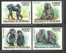 BURUNDI 827-30 MNH PRIMATES SCV 13.50
