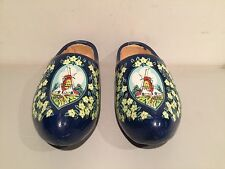 Vintage Vz Wooden Shoes Clogs Holland Hand Made Painted Extremely Rare!