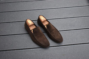 Tods, brown suede loafers, gommino style, size 10, worn once, RRP 420 €