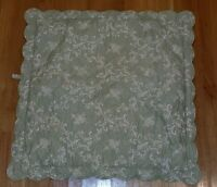 2pc Set Pottery Barn Celery Green Euro Standard Sham Pick Stitch Quilted