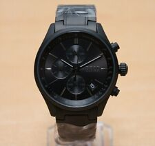 Brand New Men's Hugo Boss Watch HB1513676 Grand Prix Black Chrono - UK SELLER