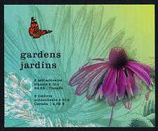 Canada 2145 Booklet MNH Gardens, Flowers, Butterfly, Bird, Salamander, Dragonfly