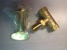 GAS VALVE AND KEY COMBO FOR FIREPLACE GAS LOG FIRE PIT - BRASS COLOR, STRAIGHT