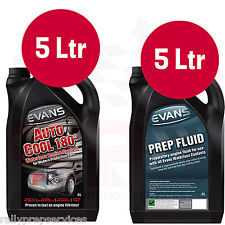 EVANS WATERLESS COOLANT CONVERSION KIT, 5 Ltrs AUTO COOL 180 + 5 Ltrs PREP