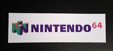 Nintendo 64 Logo Adesivo Decalcomania