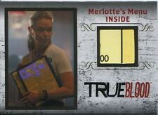 True Blood Archives Relic / Costume Card R4 Merlottes Menu [Back]