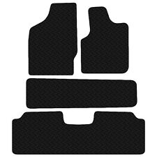 VW Sharan 2000 - 2006 Black Floor Rubber Tailored Car Mat 3mm 4pc Set Anti Slip
