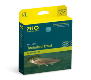 NEW RIO TECHNICAL TROUT WF-6-F #6 WT FLOATING FLY LINE SKY IN BLUE/PEACH COLOR