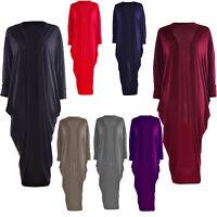 New Womens Short Batwing Sleeve Ladies Long Dip Hem Open Cardigan Shrug Top 8-14