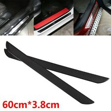 2x 60CM Carbon Fiber Scuff Plate Rear Door Sill Cover Panel Step Protector Guard