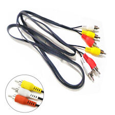 New listing 100X 3Rca To 3Rca Male To Male Extension Cable Audio Composite Video Rca Lead