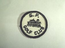 Vintage SP Golf Club Image of a Train Engine Logo Sew On Patch