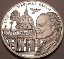 Rare 50mm Silver Proof Malta 2004 200 Liras~2,988 Minted~WE HAVE A POPE!~Free Sh