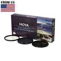 HOYA 72mm Digital Filter Kit Set: HMC UV, CPL/Circular Polarizer, NDx8 , & Pouch