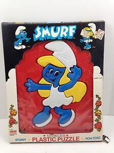 Vintage 13 Piece Smurfette Vintage 3-D Puzzle Plastic Smurf ILLCO Pre School