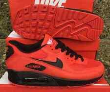 Uomo Nike Air Max 90 rosso / nero taglia UK 11 Scarpe da Ginnastica Palestra Scarpe
