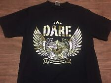 DARE To Resist Drugs And Violence Small T Shirt Hardcore Punk