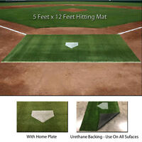 5' x 12' SyntheticTurf Baseball Softball Batting Cage Practice Hitting Rug Mat