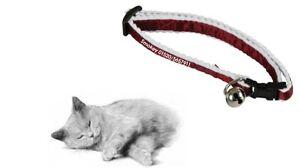 Katzenhalsband, bedruckt mit Namen & Telefon-Nr für ihren Liebling, Farbe rot