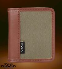 New RVCA Stockholm Mens Leather Bi-Fold Wallet