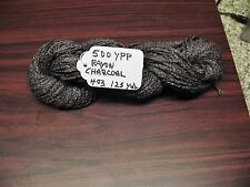Rayon Boucle Yarn 500 Ypp Charcoal color 4 ounce skein 125 Yards
