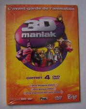 25860 // 3D MANIAK  ANIMATION VOLUME 1 A 4 COFFRET 4 DVD NEUF