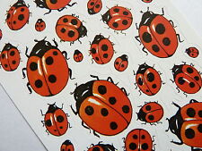 Ladybird Stickers. Kids, Childrens Labels for Craft & Decoration, 4400