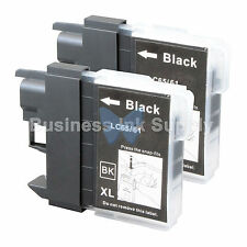2 BLACK LC65 Ink Set for Brother MFC-5890CN MFC-5895CW MFC-6490CW MFC-6890CDW
