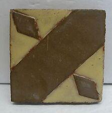 Antique Grueby Geometric Tile