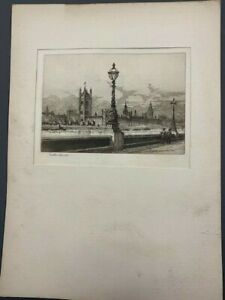 RARE antique etchings by Arthur Spencer+London+many other antique prints +  maps