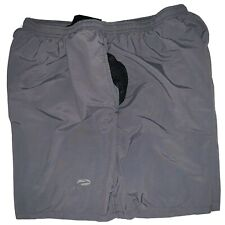 Mens Brooks Running Shorts XLarge Nylon Gray Lightweight Sprint Embrodired Logo