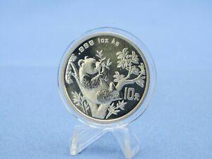 China 10 Yuan 1995 Panda 9 Blätter  1 oz. 999 Silber *St*