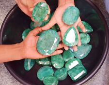 Natural 25000 Ct Certified Colombian Green Emerald Loose Gemstone Lot