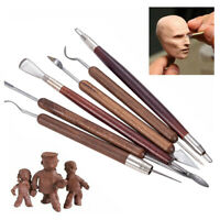 6pcs/set Clay Sculpting Set Wax Carving Pottery Tools Shapers Polymer Modeling