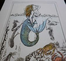 ex-libris erotique Elly de Koster signé signed erotic etching bookplate curiosa
