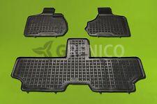 Chrysler Voyager IV 2001-2006 3 pièces Tapis de Sol en Caoutchouc