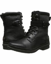 UGG WOMEN'S BLACK LEATHER KESEY BOOTS SIZE 11 NEW IN BOX