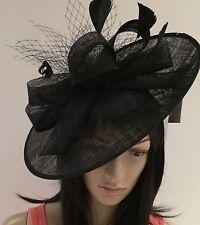 Nigel Rayment Negro Disco Fascinator De La Boda Ascot sombrero formal madre de la novia
