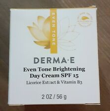 DERMA E Even Tone Brightening Day Cream SPF 15 with Vitamin C - 2 Oz Exp 3/2021