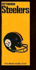 1972 NFL Football Pittsburgh Steelers Media Guide EX+
