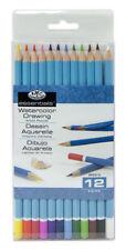 12 Esenciales Acuarelas para Artistas Soluble esbozo Lápices de colores SET