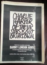 UK SUBS Charlie Harper album 1980 UK Poster size Press ADVERT 16x12 inches