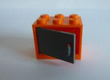 1 x LEGO® 4533/4532 Schrank,Kasten mit Tür/Klappe neudunkelgrau/orange,2x3x2
