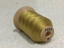 Size B Lt Gold Olive #8653 SILK THREAD~520 Yards Spool Utica/Gudebrod NOS Sewing