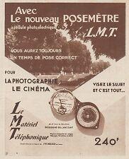Z8438 Posemétre L.M.T. - Pubblicità d'epoca - 1935 Old advertising