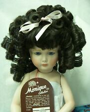 Monique Doll Wig - Charmaine Size 6-7 - Dark Brown - Lots Of Curls & Bangs