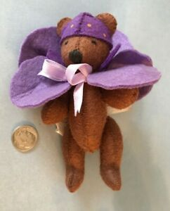 VTG Nabco Mini 1994 Petal Pushers Pansy Plush 3211 Stuffed Animal Teddy Bear