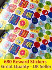 Nuevo libro de 680 Pegatinas De Recompensa Escuela Maestro Hogar Sonrisas Libro Buen Trabajo motivación